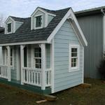 We built, donated and delivered this children's playhouse for the Greenville hospital's charity fund raising event.
